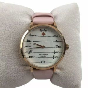KATE SPADE Pink Metro Three-hand Leather watch